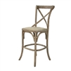 Parisienne Cafe Counter Stool - Limed Grey