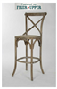 Parisienne Bar Stool (Limed Grey)
