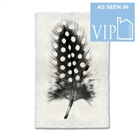 black white dots feather handmade paper
