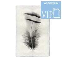 black white feather handmade paper