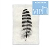 black white feather stripes handmade paper