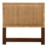 king headboard natural organic hand wrapped rattan