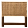 queen headboard natural organic hand wrapped rattan