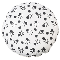black white stars floor cushion ottoman