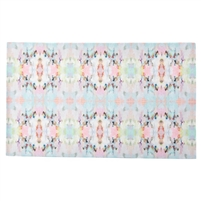 colorful lay flat floor mat pink teal white