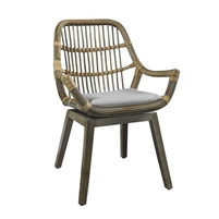 kubu rattan curved chair cushion