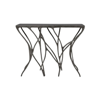 bronze console table leaf