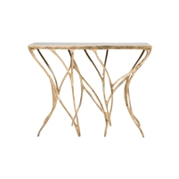 gold console table leaf