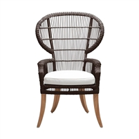 brown rattan dining chair cushion