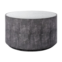 round cocktail table gray