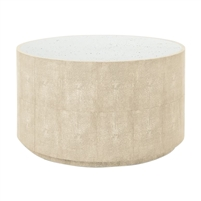 round cocktail table ivory