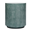round turquoise side table