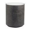 round charcoal side table