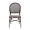 brown faux rattan side chair