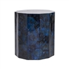 dark blue shell side table