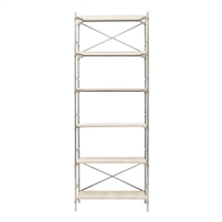silver steel ivory bookcase shelves