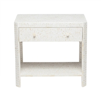 natural white resin double nightstand
