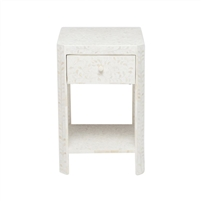 natural white resin nightstand