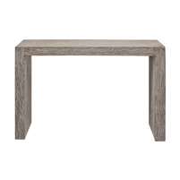 dark gray etched console table
