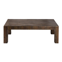 square coffee table brown