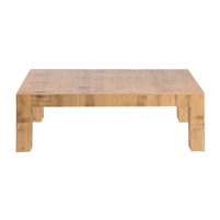 square coffee table natural