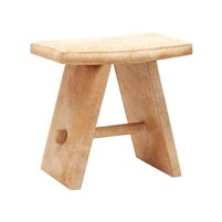 beige stool hair on hide