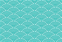 Turquoise Fish Scales Placemat