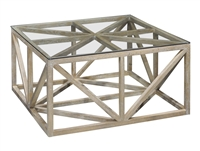 contemporary coffee table white oak wood glass top