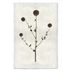 photography globe thistle plant weed handmade paper
