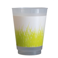 plat du jour grass disposable cups 12 green frosted 16 oz. farmhouse country