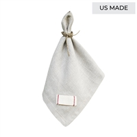 napkins linen natural twill tape red stitching square