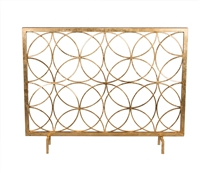 fireplace screen gold circles contemporary modern geometric