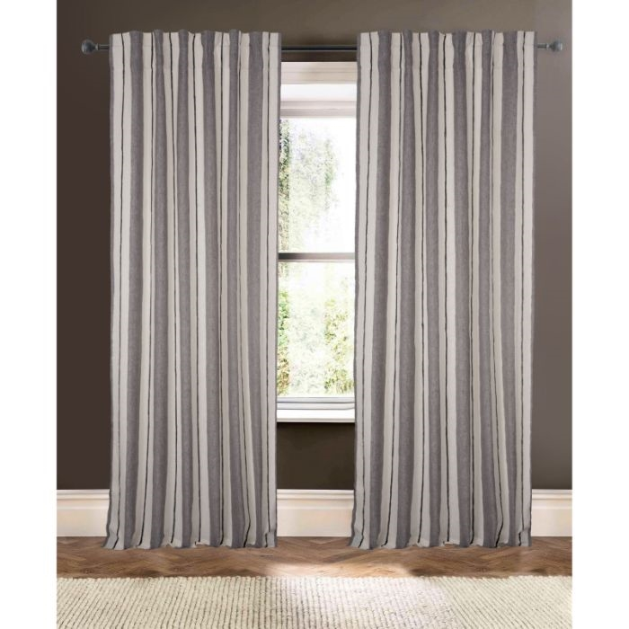 Gray And Ivory Striped D