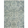 Surya area rug hillcrest blue aqua washed out faced vintage antique fringe