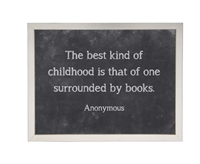 black chalkboard background framed art quote the best kind of childhood