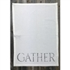 white gather napkins hand towels cotton linen