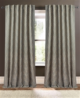 vertical embroidered waves curtains drapery panels white/blue sage/taupe black/natural