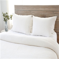cream off-white blanket twin queen king pillow sham standard stonewashed cotton waffle weave