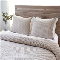 natural flax blanket twin queen king pillow sham standard stonewashed cotton waffle weave
