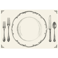 Gold Perfect Table Setting Paper Placemats - Dinner Party Accessories