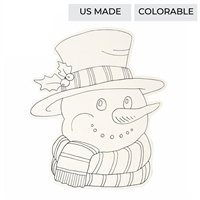 paper placemats snowman die cut 12 pack coloring black white
