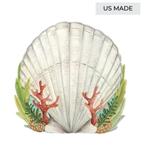 Hester & Cook Die Cut Shell Placemat - USA Made Coastal Table Decor | BSEID