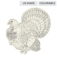 """Coloring Turkey"" Die Cut Paper Placemat Sheets by Hester & Cook"