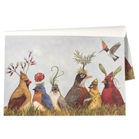 paper placemat pad birds nature sky hats flowers grass colorful