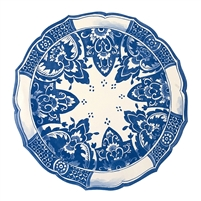 paper placemats 12 sheets round scalloped charger blue + white formal die cut Asian oriental