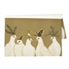 paper placemats white birds doves winter holly pine hats kraft rectangle winter holiday tablescape