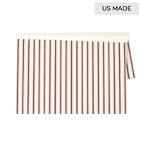 paper placemats pad stripes red cream rectangle holiday Christmas table decor patriotic 4th of July