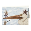 paper placemats pad blue sky pelican starfish coastal beachy summer