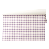 paper placemats pad lavender lilac checks painted spring table decorations
