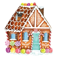 paper placemat die-cut gingerbread house